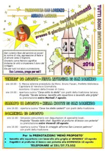 programma San Lorenzo 2018