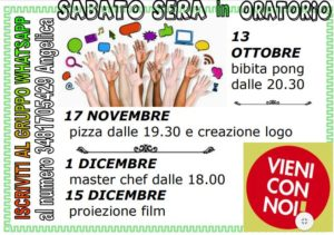 sabato sera in oratorio